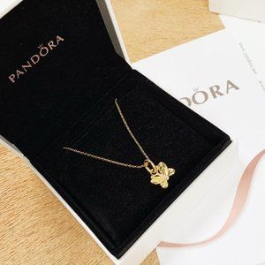 🎆NWT Pandora Butterfly Pendant Chain Necklace